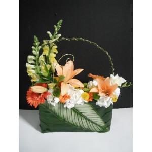 Sacoche en fleurs