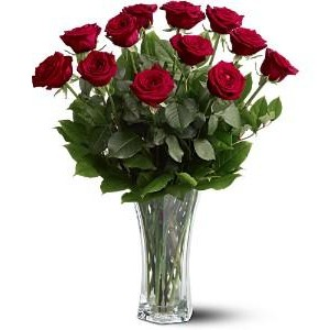 La douzaine de roses rouges