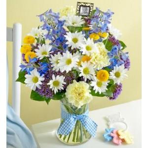 Bouquet naissance garçon