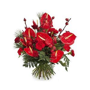 Bouquet de noël exotique