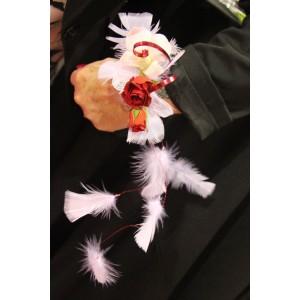 Bracelet avec plumes