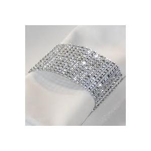 Anneaux de serviettes diamants
