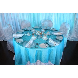 Ensemble blanc et turquoise